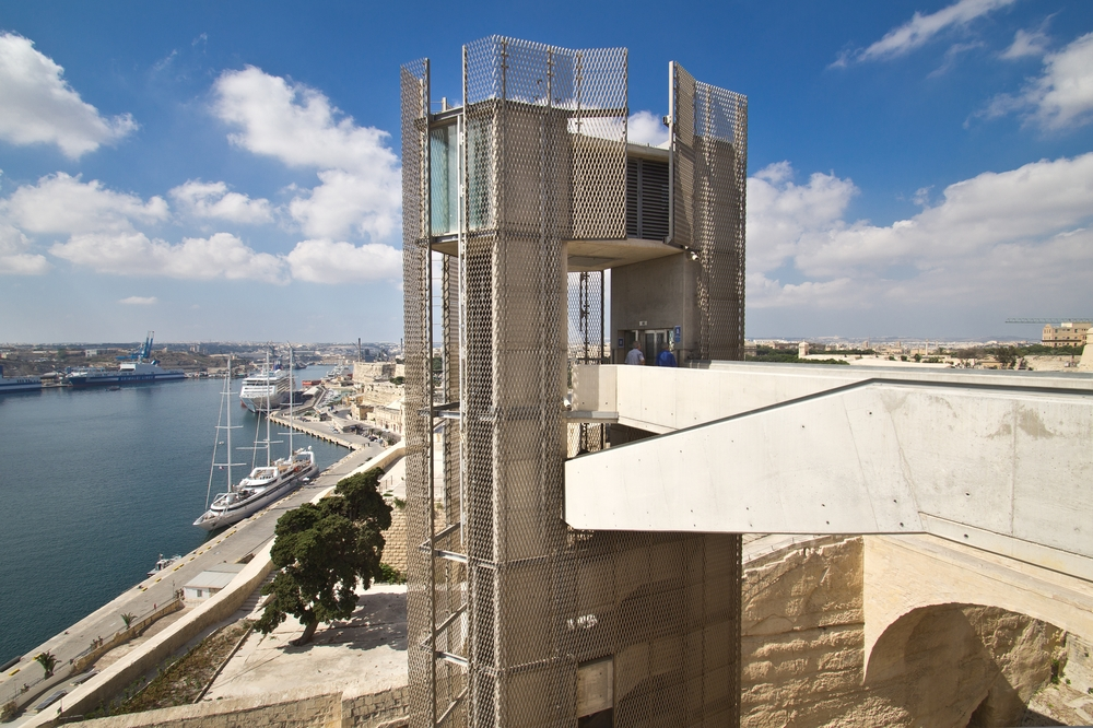 Upper Barrakka Gardens Malta Lift