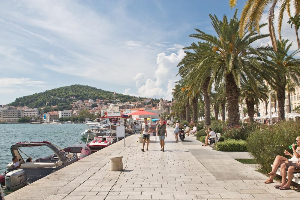 Promenade Riva Split Kroatien MS Europa 2