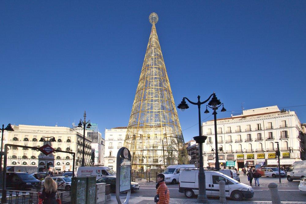 Weihnachtsbaum Madrid Puerta del Sol
