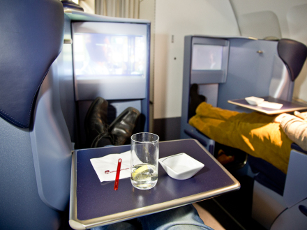 AirBerlin Business Class Full Flat Fully Flat Abu Dhabi