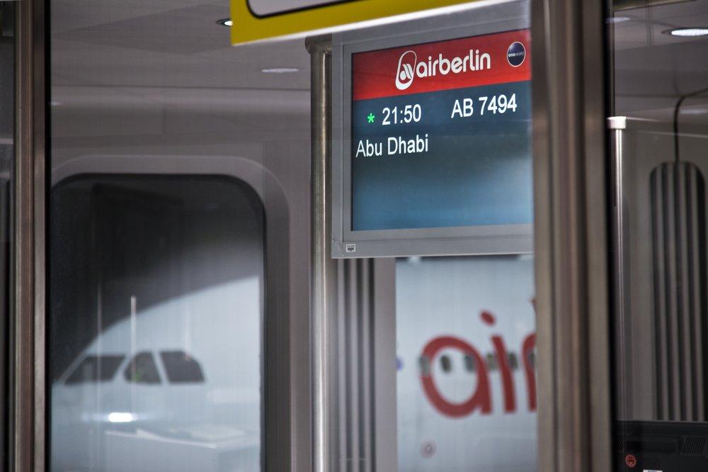 Abu Dhabi Airberlin Flug Tegel
