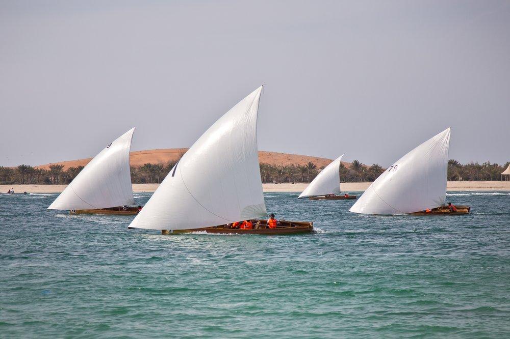 Dau Dhau Dhow Settee-Besegelung abu Dhabi