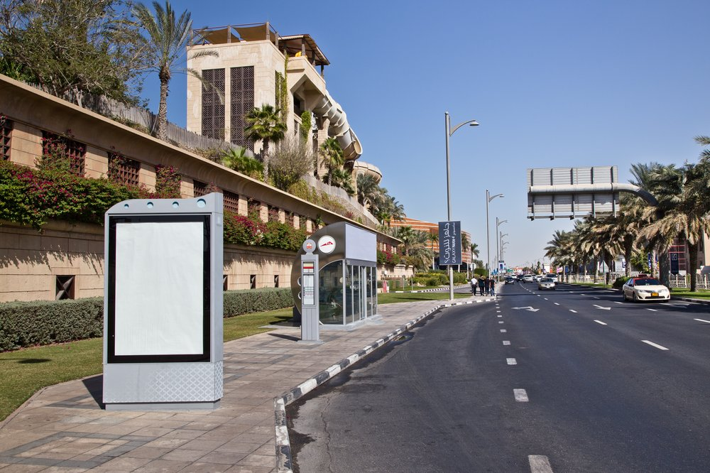 Klimatisiert Bus Haus Stop Dubai