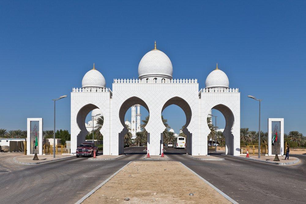 Parkplatz Scheich Sayed Moschee Abu Dhabi