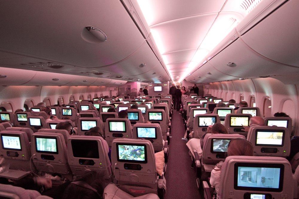 Emirates A380 Interieur Dubai München