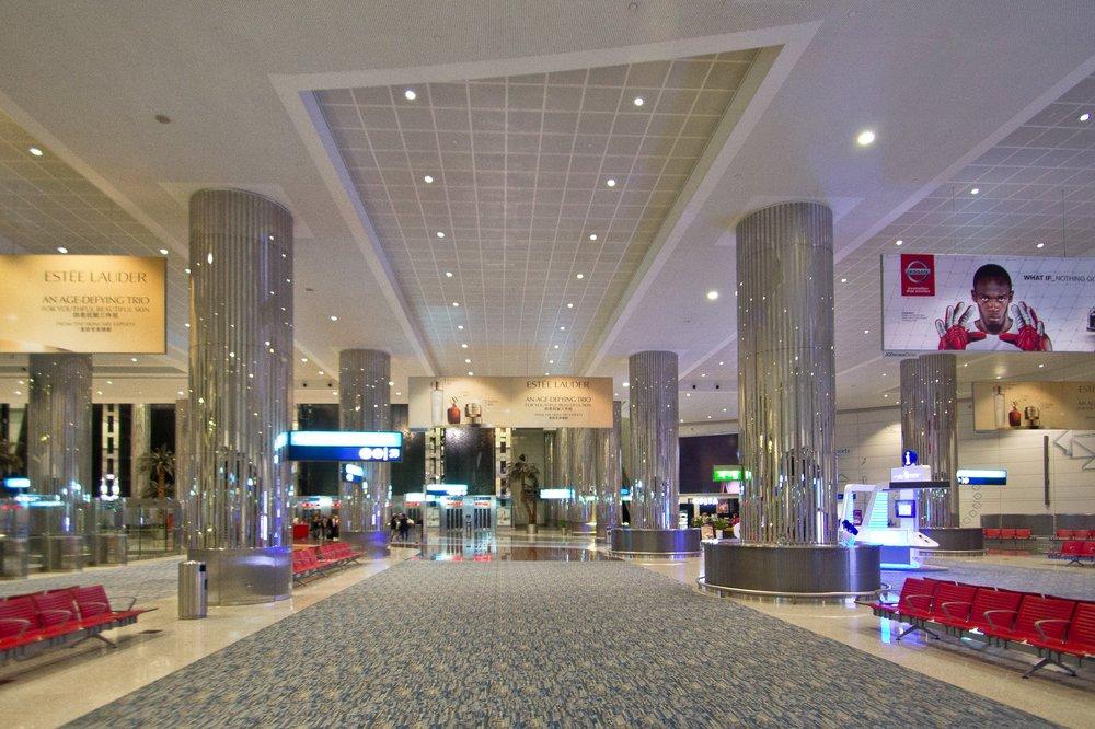 Flughafen Dubai DXB Arrival