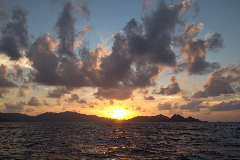 Sonnenuntergang Praslin Seychellen Silhouette Cruises