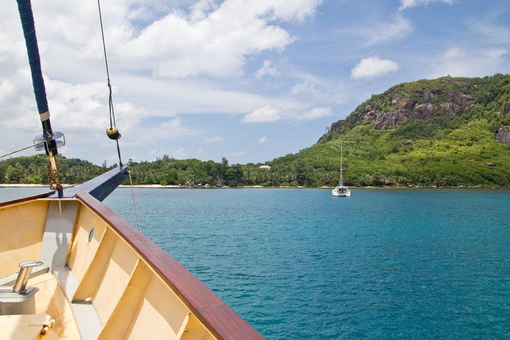 Sonnendeck Bug Sea Star Bird Silhouette Cruise Seychellen