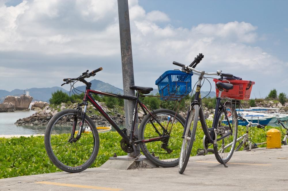 Fahrrad La Digue Seychellen