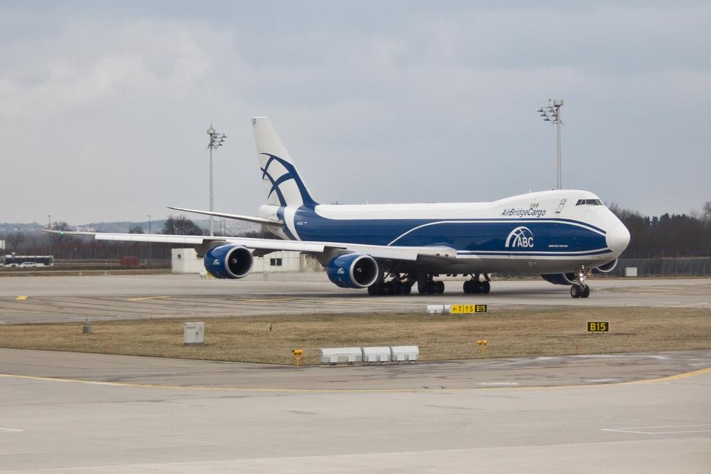 AirBridge Cargo München Flughafen 747 Jumbo