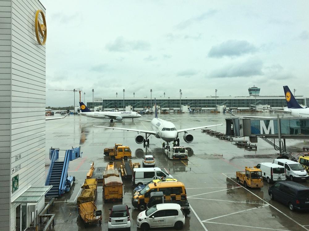 Gate München Flughafen Lufthansa