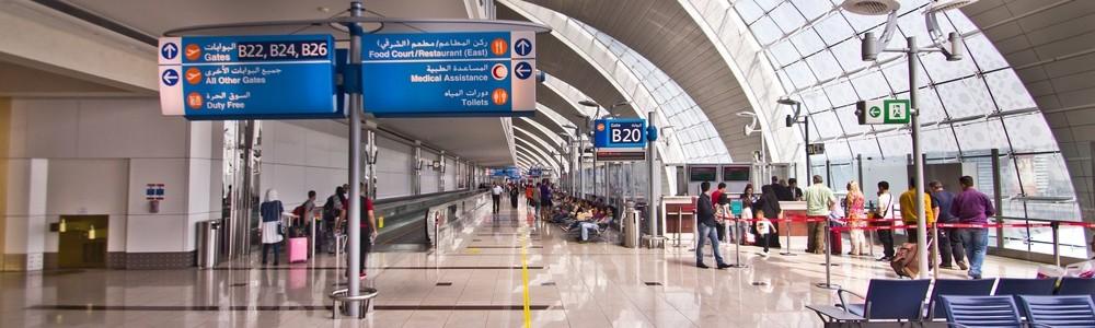 Abflug Gate Dubai Airport DXB Emirates A380