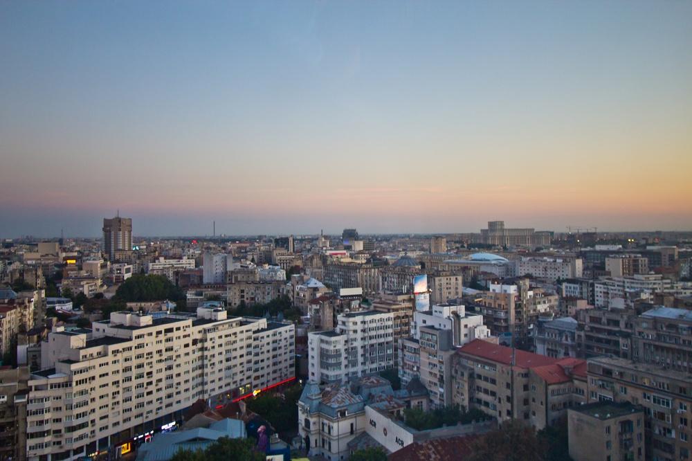 Bukarest Sonnenuntergang Parlamentspalast