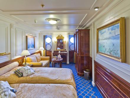 Sea Cloud Cruises II Kabine Außenkabine Kabinendeck