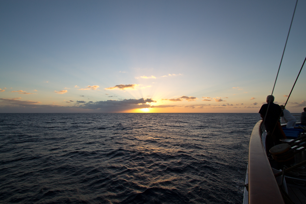 Sonnenuntergang Sea Cloud II