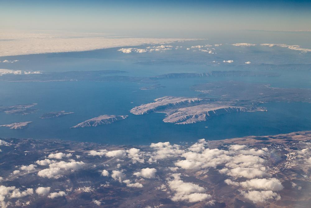 Krk Hafen von Krk Stadt Kroatien