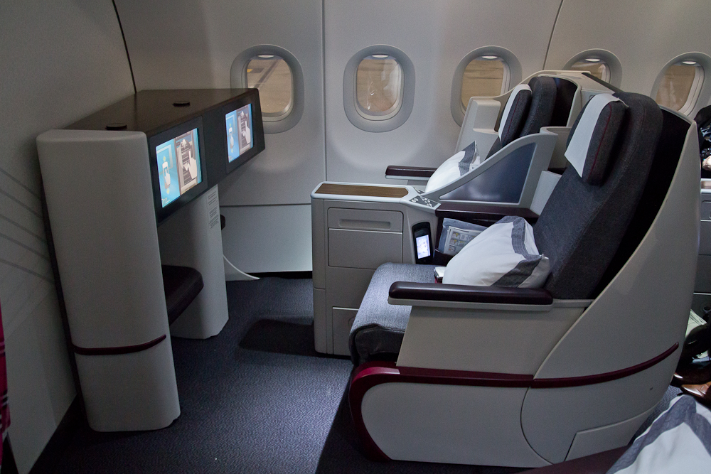 Lieflat Airbus A320 Qatar Airways