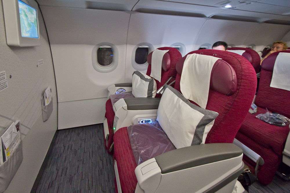 Business Class Qatar Airways Airbus A320 Doha Ras Al Khaimah