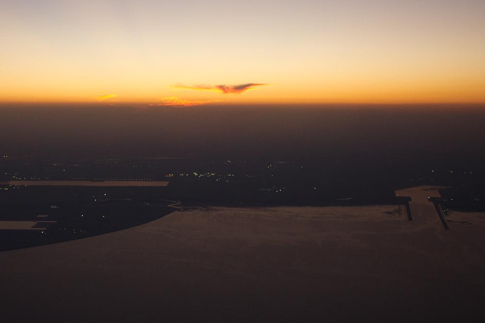Landung Doha Qatar Airways