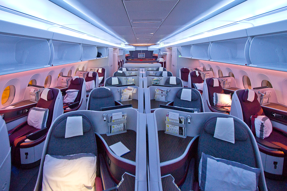 Interieur Qatar Airways A350 XWB Business Class