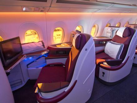 Interieur Qatar Airways A350 XWB Business Class