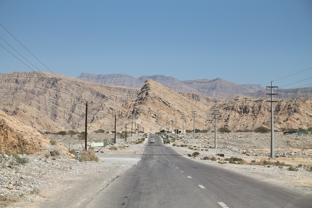Ras Al Khaimah Straße Wüste Oman