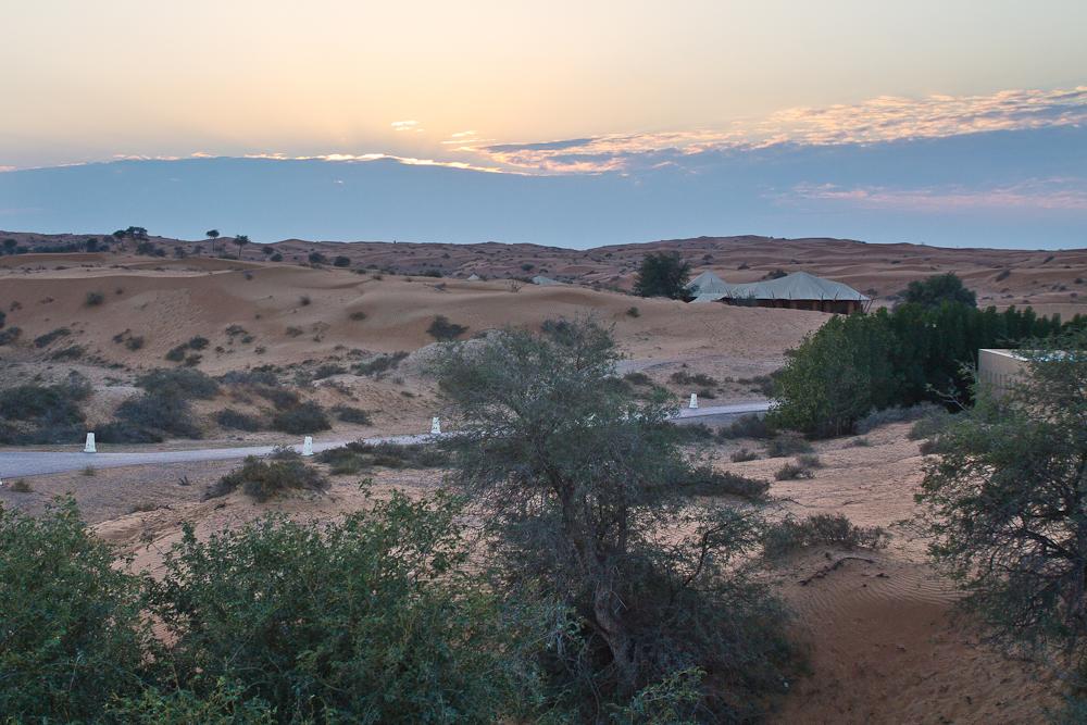 Sonnenuntergang Wüste Banyan Tree Al Wadi Ras Al Khaimah