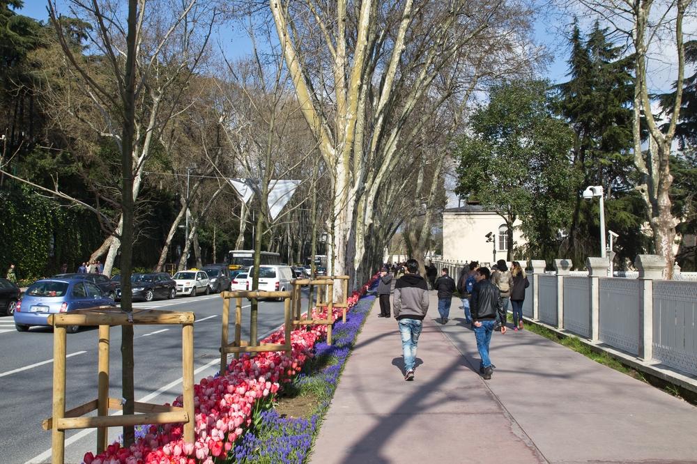 Fußweg Istanbul Türkei Städtreise