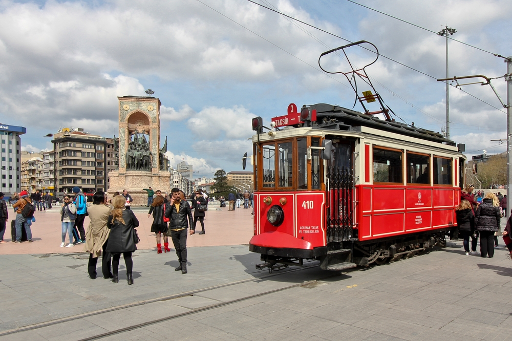 Straßenbahn Taksim Platz Istanbul Nostalgie
