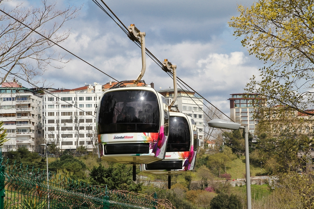 Istanbul Seilbahn TF1 Städtereise Gondel