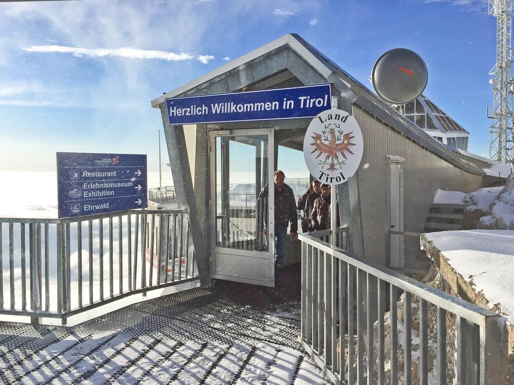 Grenze Zugspitze Österreich Tirol