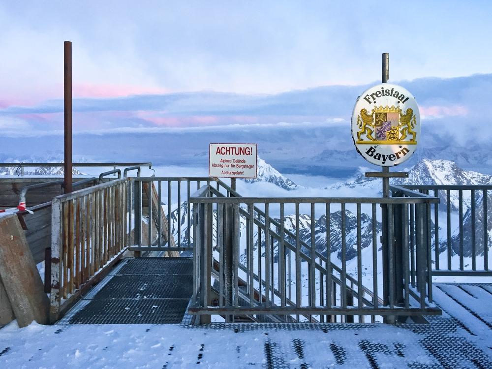 Grenze Zugspitze Deutschland Bayern