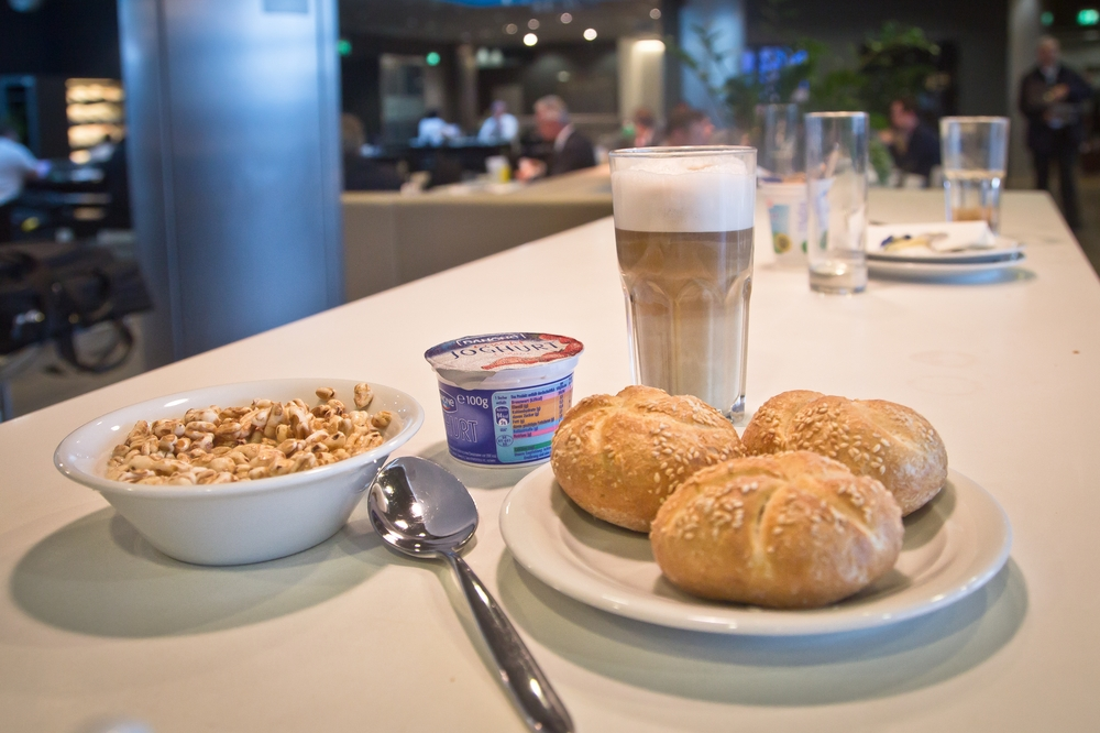 Breakfast Lufthansa Business Class Lounge Munich Airport Flughafen München