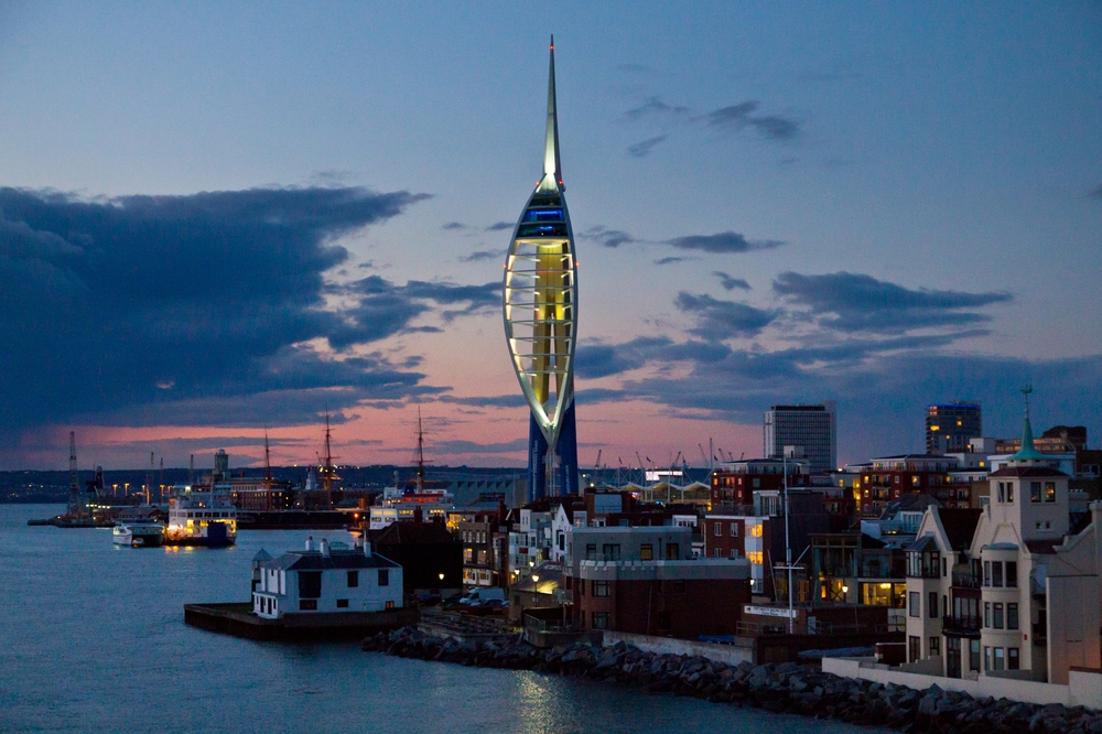 Portsmouth Skyline Night Emirates Spinnaker Tower