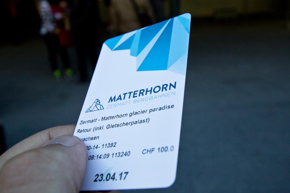 Matterhorn Express Seilbahn Gondel Ticket