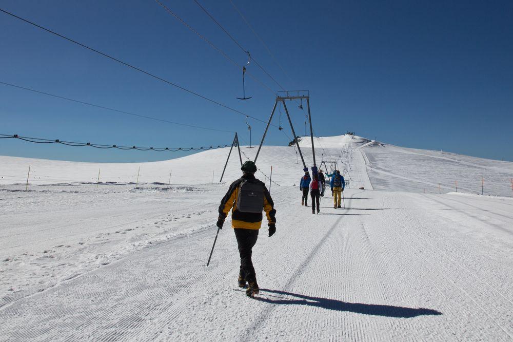 Klein Matterhorn Beginn Wanderung Breithorn