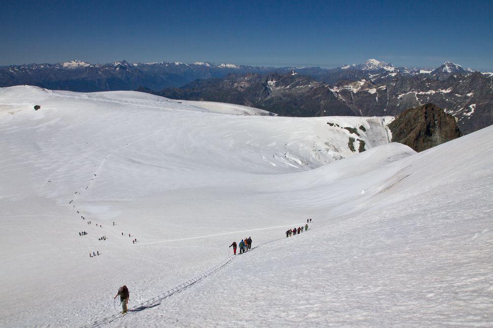 Breithorn Plateau Aufstieg Gipfel Klein Matterhorn