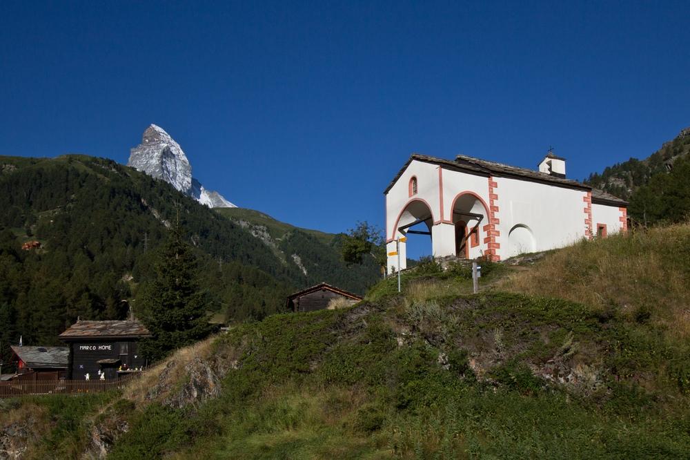Wallis Berge Berghang Haus Matterhorn