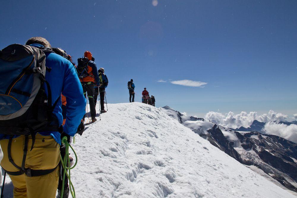 Breithorn Gipfel Anstieg