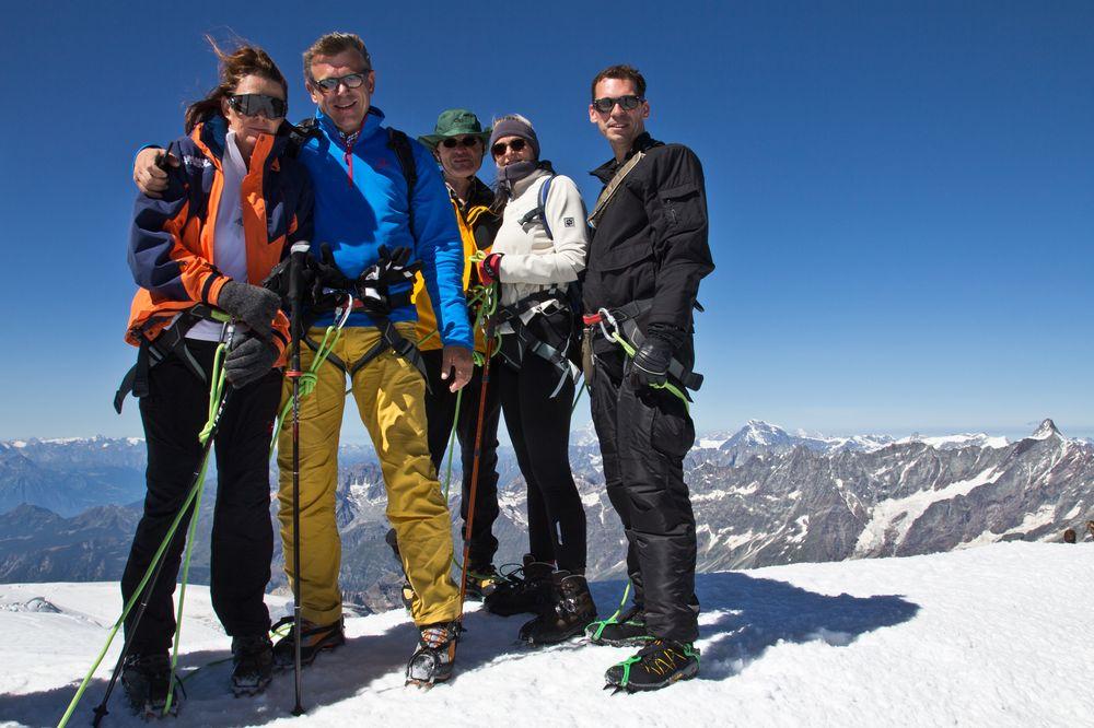 Gipfelfoto Breithorn Seilschaft