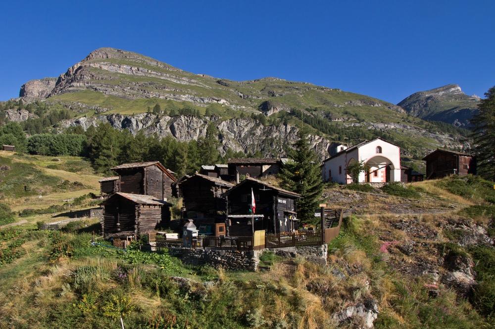 Häuser Zermatt Bebauung