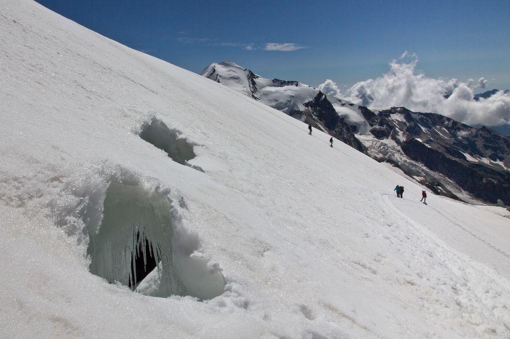 Breithorn Gletscherspalten