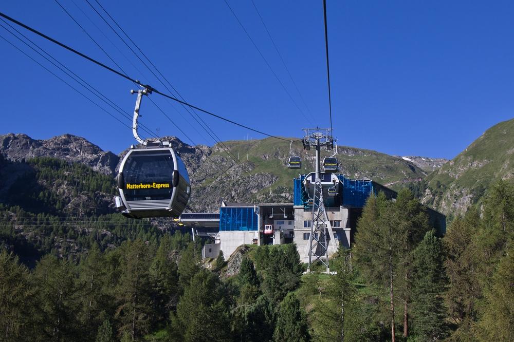 Luftseilbahn Matterhorn Express Station Zwischenstation