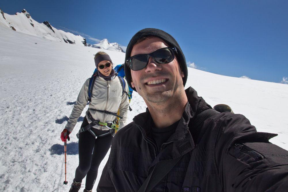 Abstieg Breithorn Gipfel