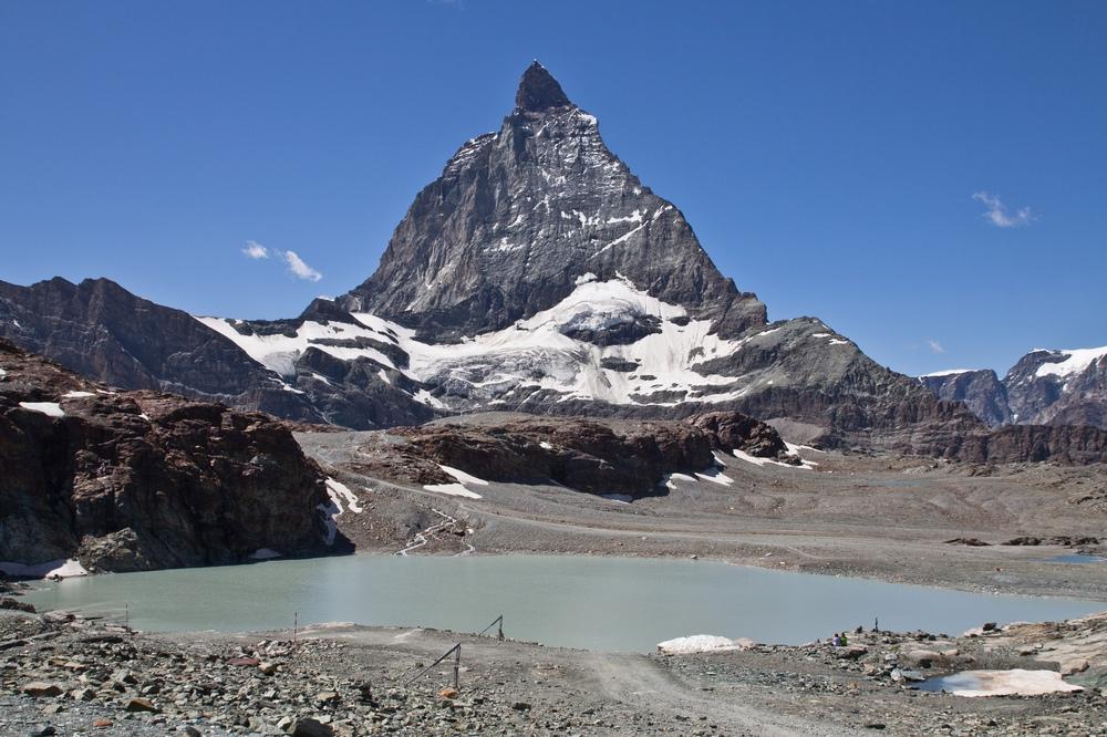 Matterhorn Spiegelung See Trockener Steg
