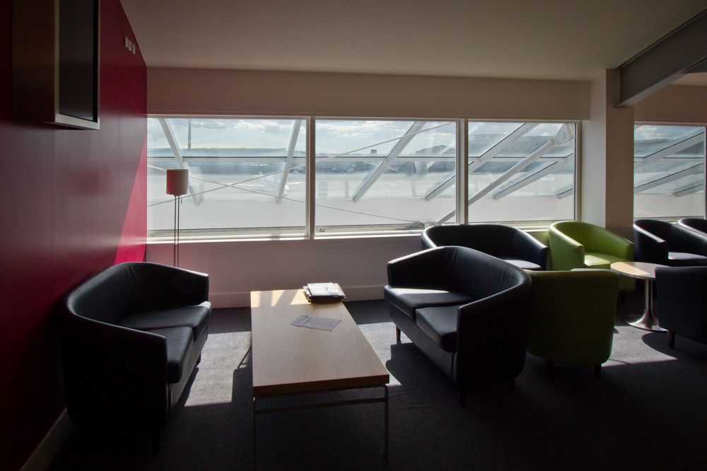 View Lounge Southampton Flughafen Aussicht