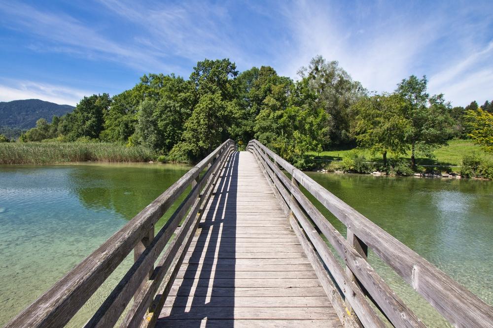 Brücke Tegernsee Mündung Mangfall