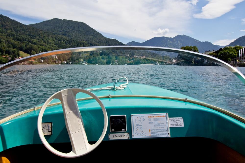 Motorboot leihen am Tegernsee