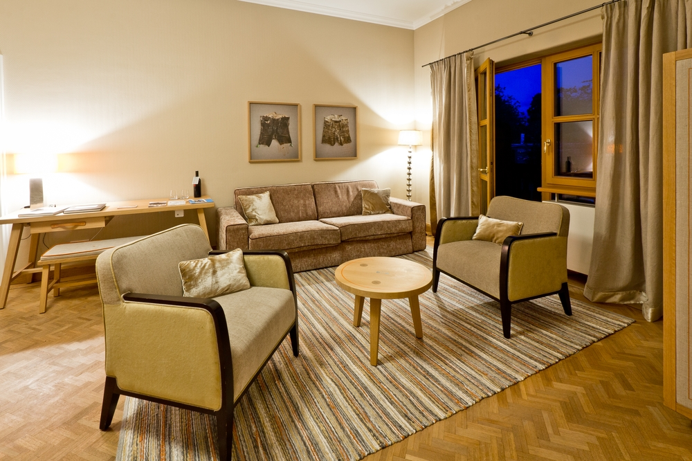 Tegernsee Hotel Bachmair Weissach Classic Suite Wohnzimmer