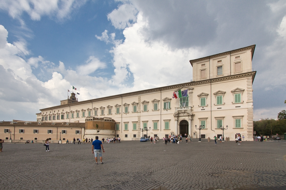 Piazza del Quirinale Quirinalspalast Rom